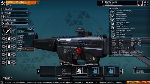 Blacklight Retribution armi weapon