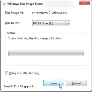 burn iso windows8