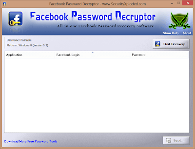 recuperare password facebook