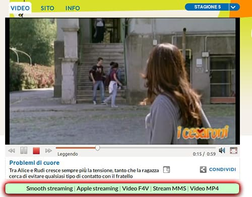 scaricare video mediaset.it