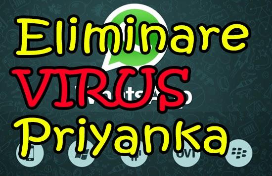 Eliminare Virus WhatsApp Priyanka