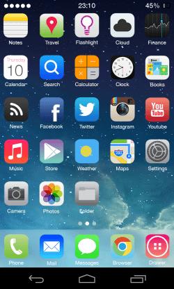 Tema iOS 7 - iPhone 5 su Android