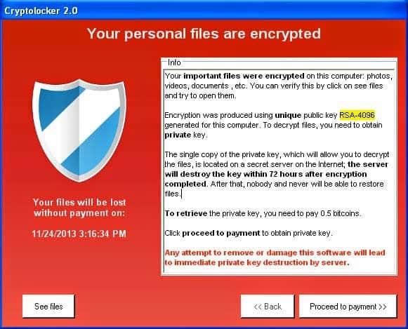 Cryptoclocker virus
