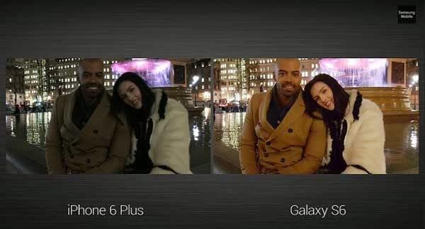 galaxy s6 vs iphone 6 plus camera
