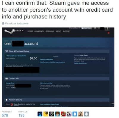 problema steam