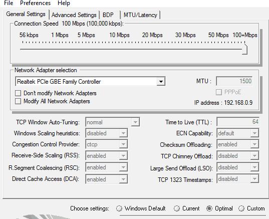 tcp optimizer windows 10