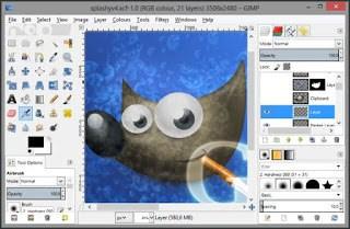 gimp editing foto