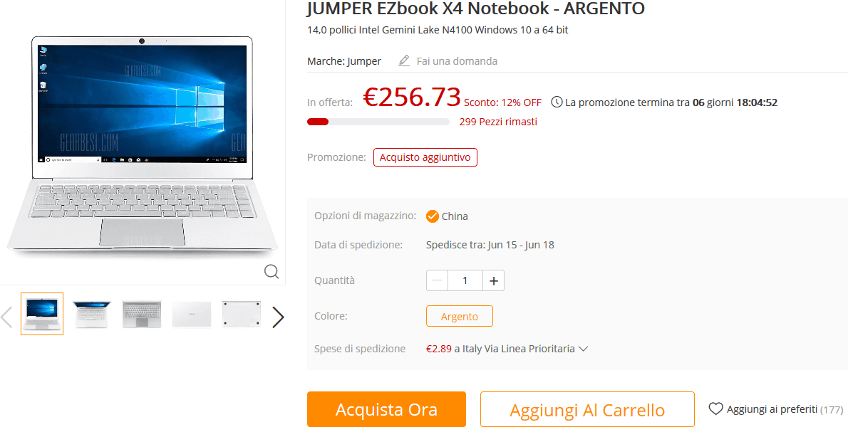 Jumper EZbook X4 GearBest
