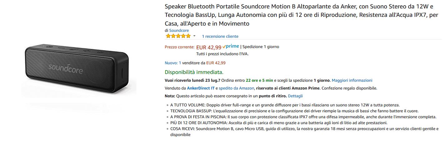 Anker Soundcore Motion B recensione