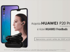 Auricolari FreeBuds regalo Huawei P20 Pro