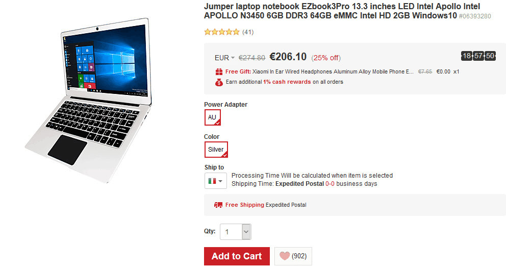 Jumper EZbook 3 Pro offerta LightInTheBox 188 euro