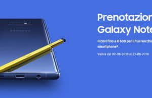 Samsung Galaxy Note 9 600 euro sconto