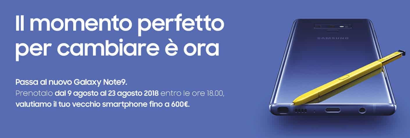 Samsung Galaxy Note 9 600 euro sconto