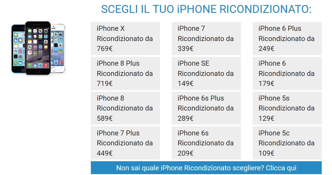 Dove comprare iPhone X ricondizionato