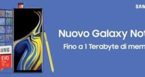 Samsung Galaxy Note 9 regalo micro SD 128/512 GB