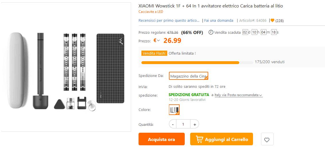 Cacciavite elettrico Xiaomi offerta lampo TomTop