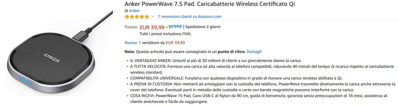 Anker PowerWave 15 Pad recensione