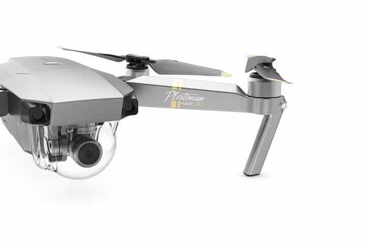 DJI - Mavic Pro Combo Platinum - Quadcopter Drone con fotocamera