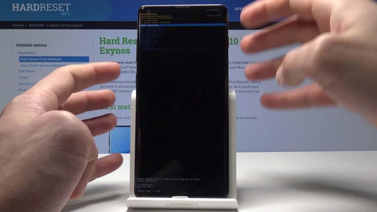 Come fare Hard reset Samsung Galaxy S10 Plus tramite recovery