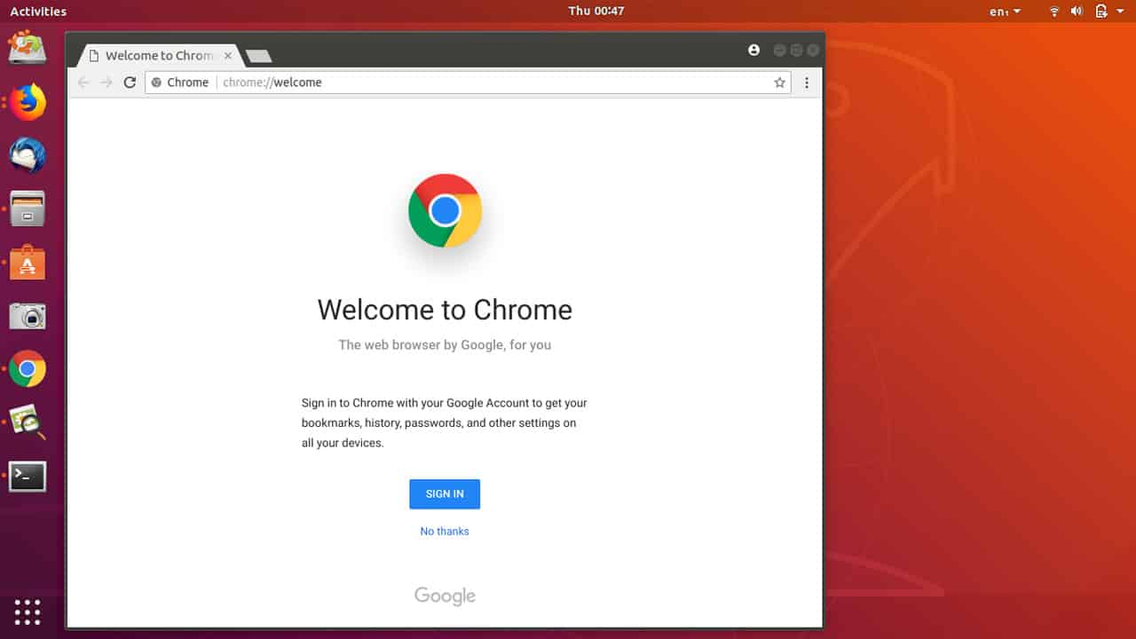 Come installare Google Chrome su Ubuntu 18.04