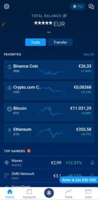 Schermata Iniziale App Crypto.com