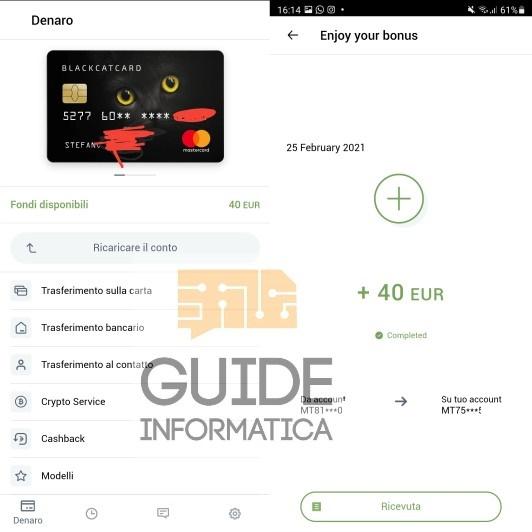 40 euro bonus blackcat card
